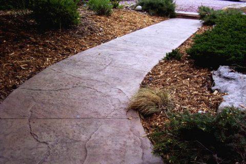 LID stamped walkway