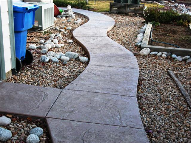 Seamless stone walk that replaced the flagstone.