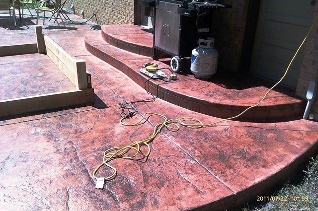 Stamped patio on 1242 Scrub Oak in Boulder