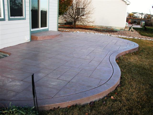 New ashlar slate patio for the Brewsters