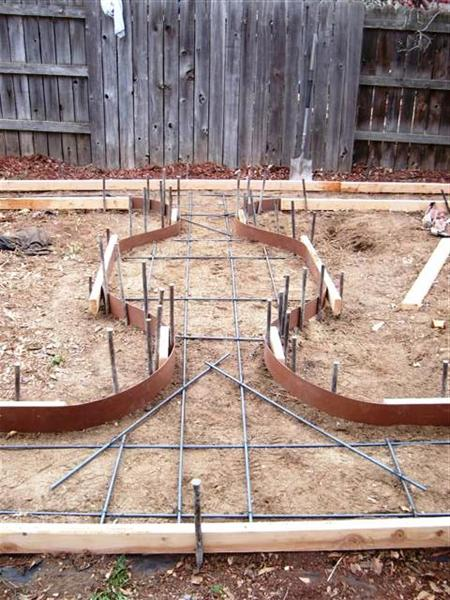 Typical formwork detail and reinforcing