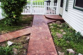 New entry sidewalk, porch and patio for Glenna