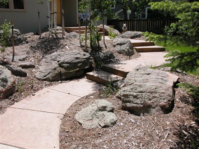 Kinkead entry walk at 3825 Birchwood Drive.