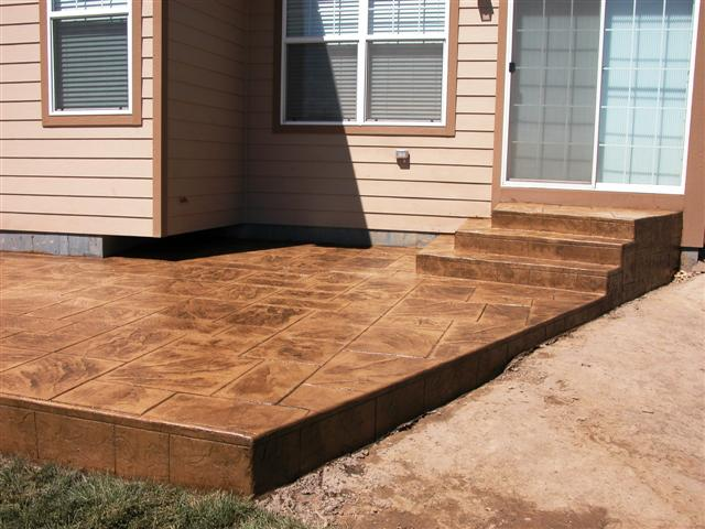 Patio and steps
