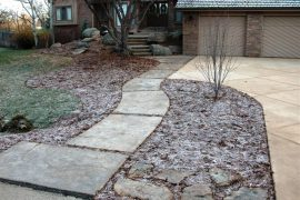 Fossum Entry Steps, Porch and Driveway