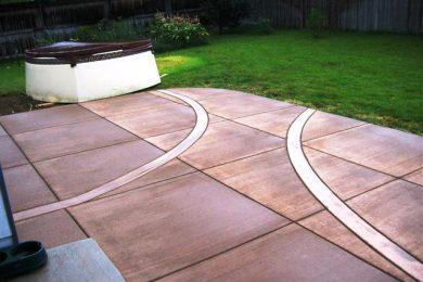 Trowelled Border Detail Colored Concrete