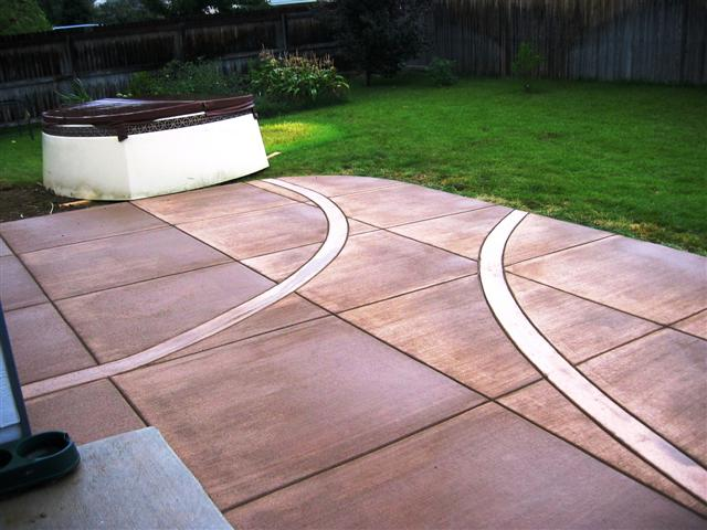 , using her considerable expertise, designed her own patio.