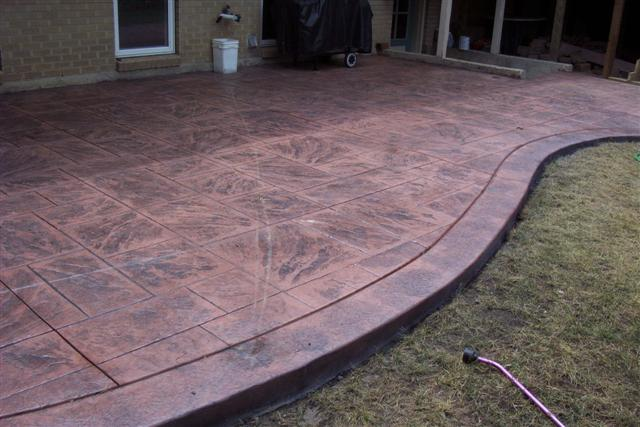 We added a seamless stone border to this patio