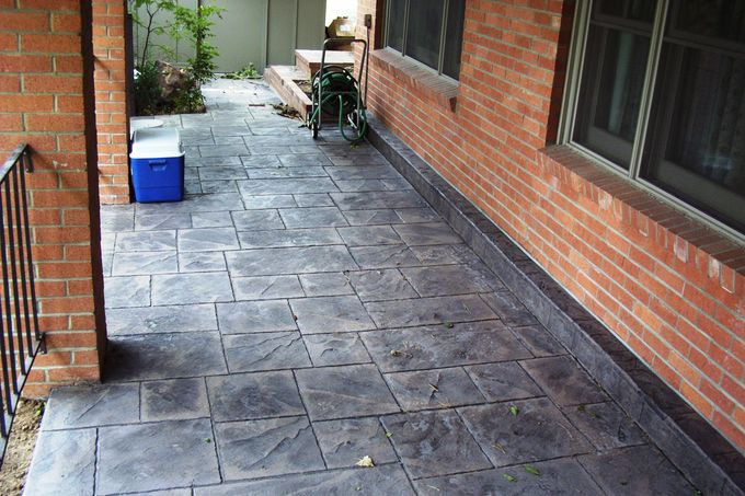 Large ashlar slate porch at 2300 Kohler, Boulder