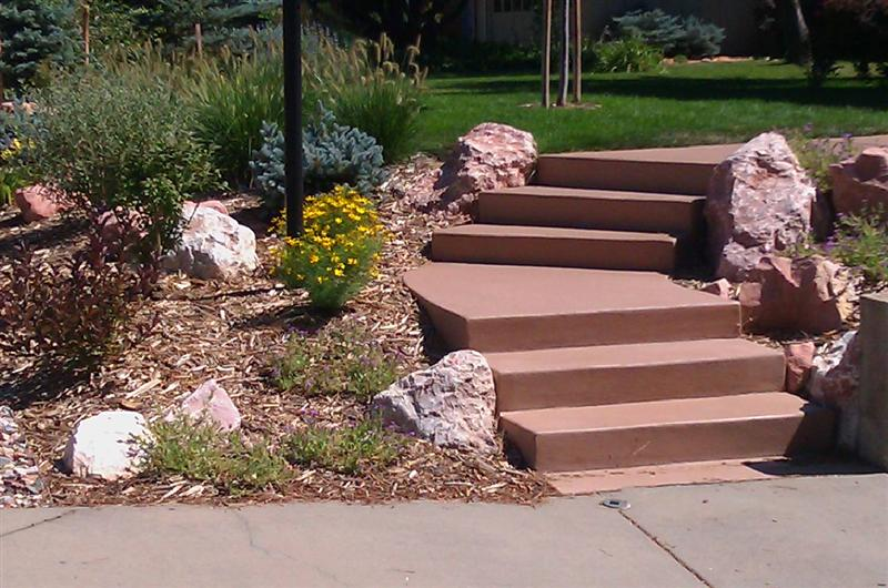 Entry steps on Colt Dr. in Boulder