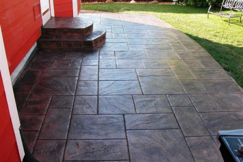 Hunt patio, large ashlar slate