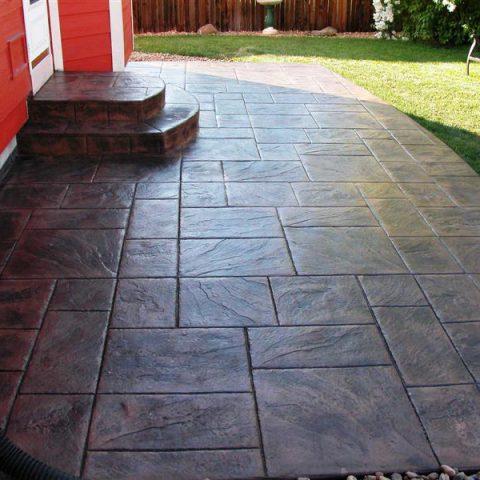 Hunt patio, large ashlar slate