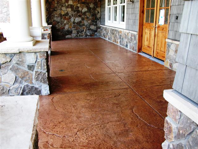 Entry porch, seamless stone side view