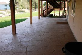 Patio, walkway and steps, Rock Creek