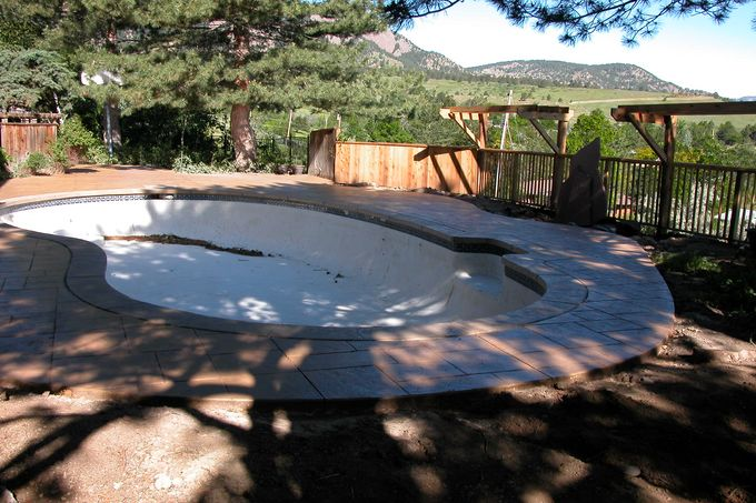New stamped concrete for pool