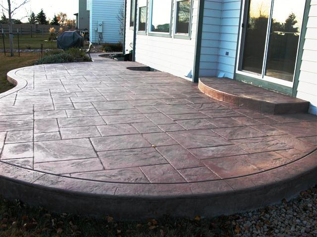 New ashlar slate patio.