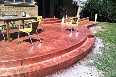 Stamped patio on 1242 Scrub Oak in Boulder