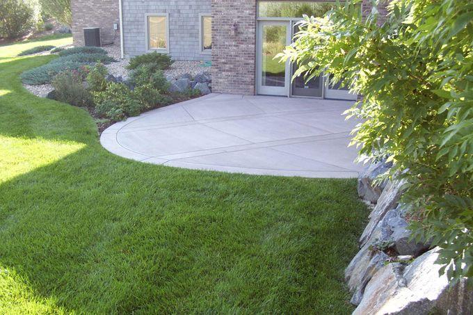 Basement level patio
