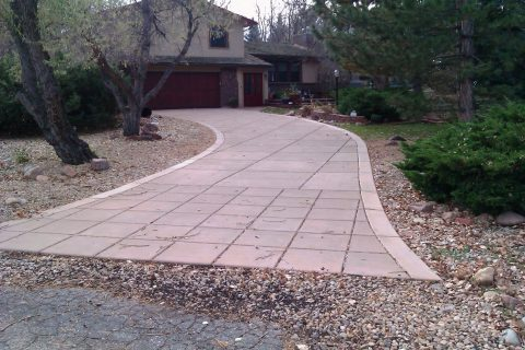 Driveway with border detail and joint pattern
