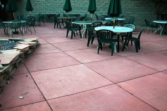Colored Concrete, Broom Finish Patio