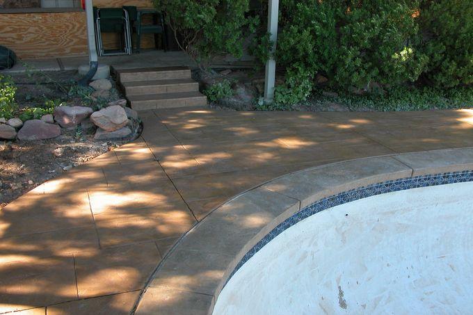 Pool decking and steps at Heath Pool, Vassar Dr., Boulder