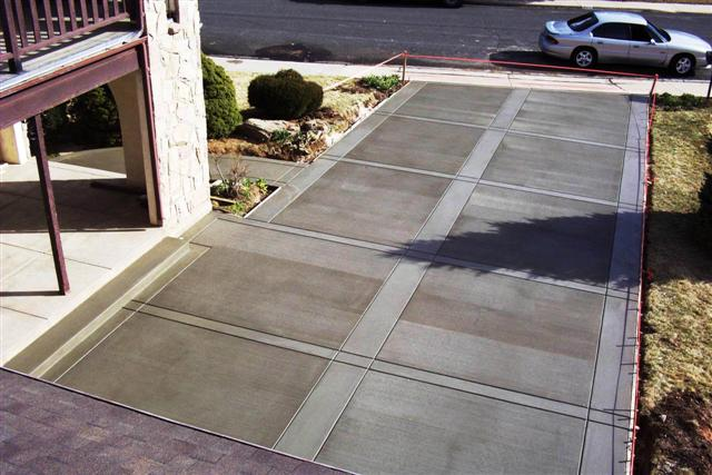 Driveway with Borders finish on McKinley in Boulder