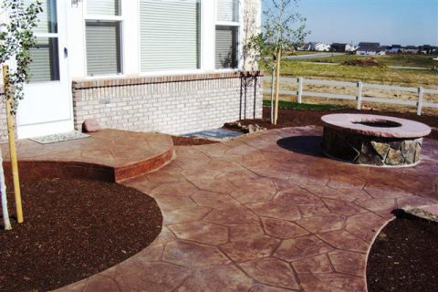 The fire pit for this patio was built by RHA after the patio was finished.