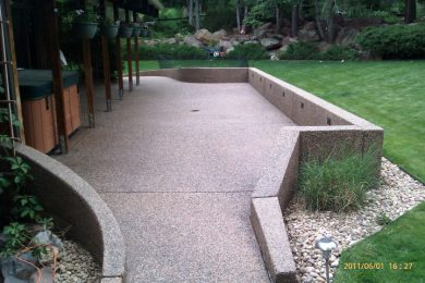 Sand Finish and Exposed Aggregate