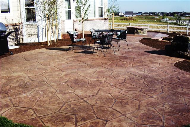 This patio is over 700 square feet.