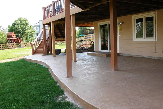 Patio, flagstone pattern